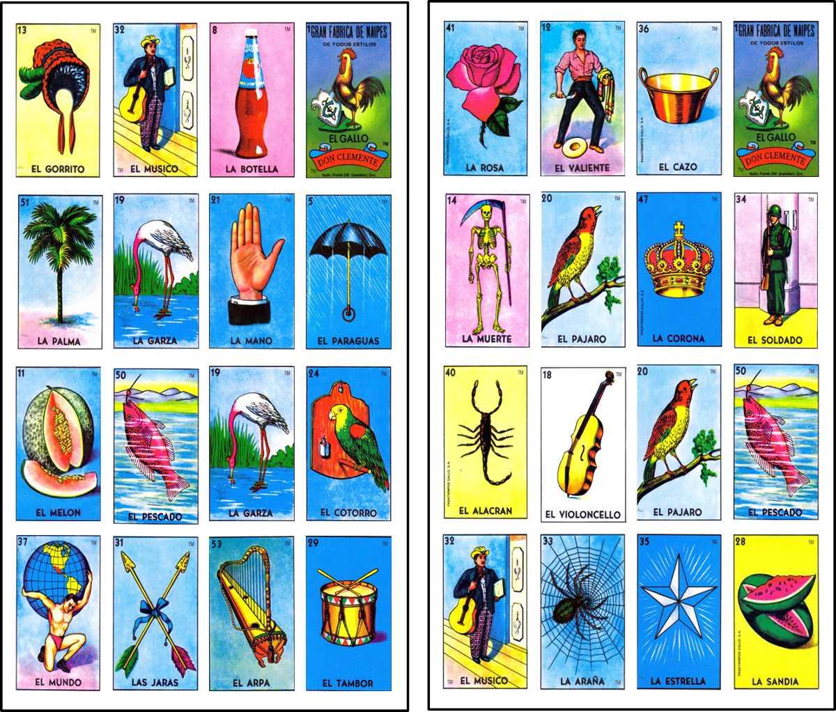 Mexicana Imprimir Para Cartas Loteria